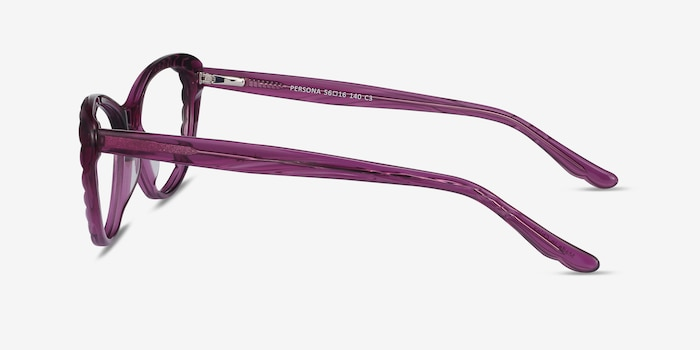 Persona Cassis Acetate Eyeglass Frames from EyeBuyDirect, Side View