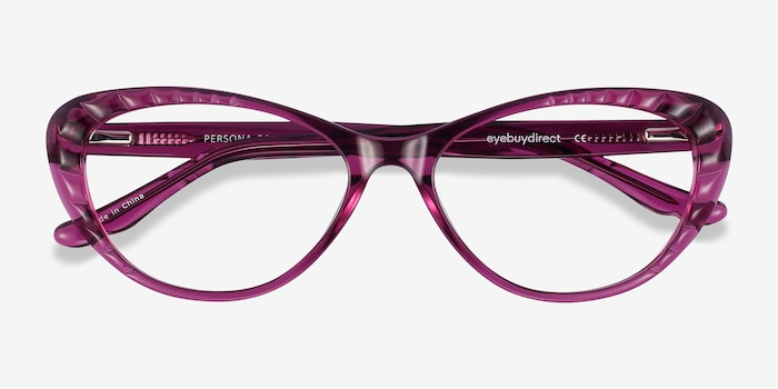 Persona Cassis Acetate Eyeglass Frames from EyeBuyDirect, Closed View
