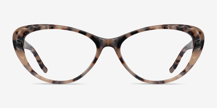 Persona Ivory Tortoise Acetate Eyeglass Frames from EyeBuyDirect, Front View