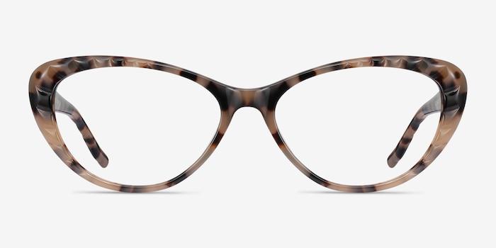 Persona Ivory Tortoise Acétate Montures de Lunette de vue d'EyeBuyDirect, Vue de Face