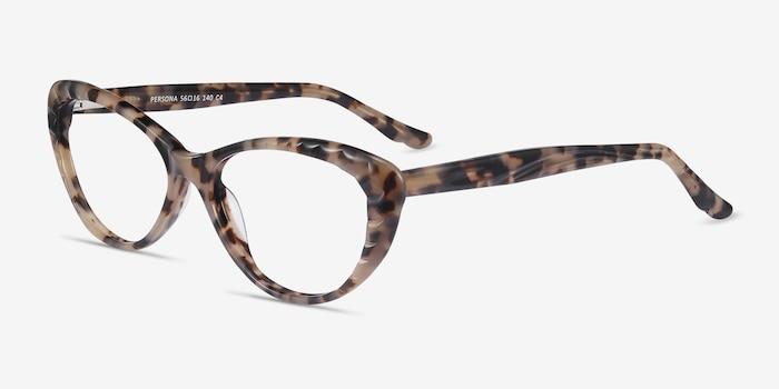 Persona Ivory Tortoise Acétate Montures de Lunette de vue d'EyeBuyDirect, Vue d'Angle