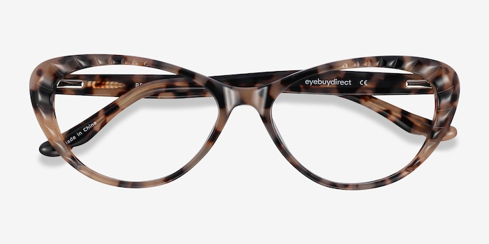 Persona Ivory Tortoise Acetate Eyeglass Frames from EyeBuyDirect, Closed View