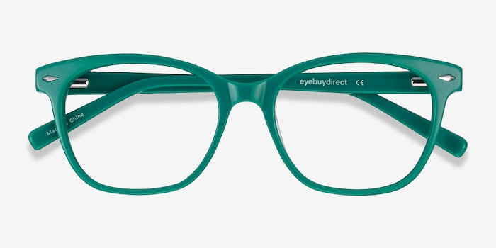 Yana Teal Acetate Eyeglass Frames from EyeBuyDirect, Closed View