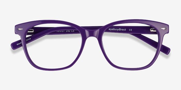 Yana Purple Acetate Eyeglass Frames from EyeBuyDirect, Closed View
