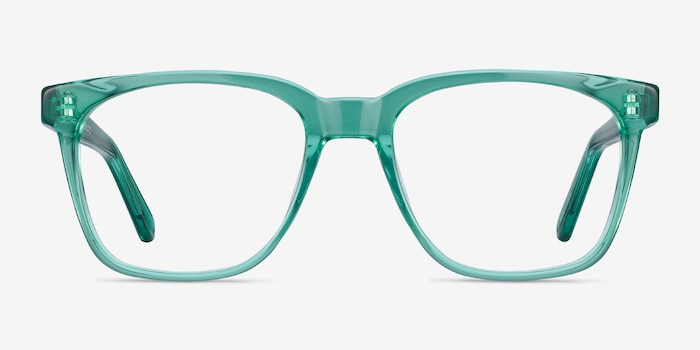 Jamie Emerald Green Acetate Eyeglass Frames from EyeBuyDirect, Front View