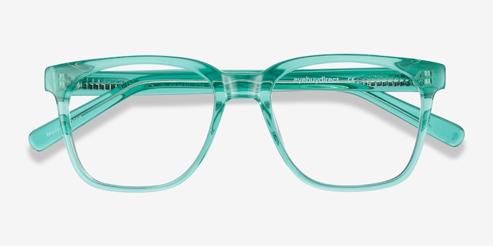 Jamie Emerald Green Acetate Eyeglass Frames from EyeBuyDirect, Closed View