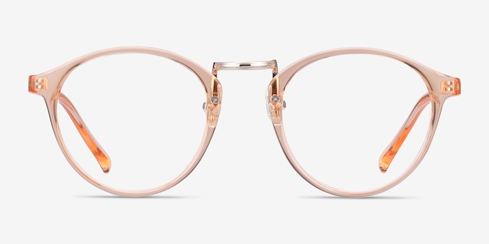Chillax Clear Melon Metal Eyeglass Frames from EyeBuyDirect, Front View