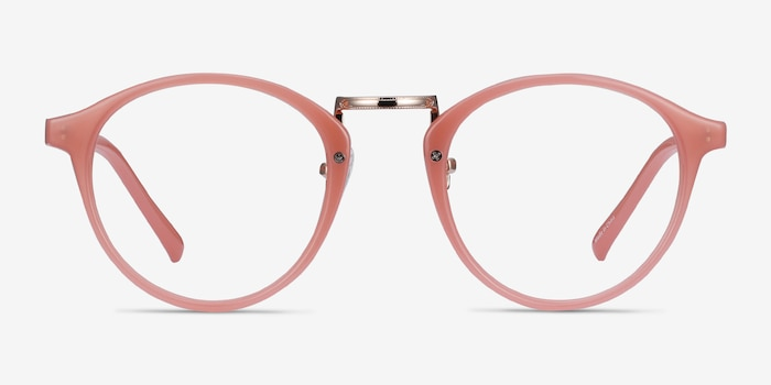 Chillax Coral Metal Eyeglass Frames from EyeBuyDirect, Front View