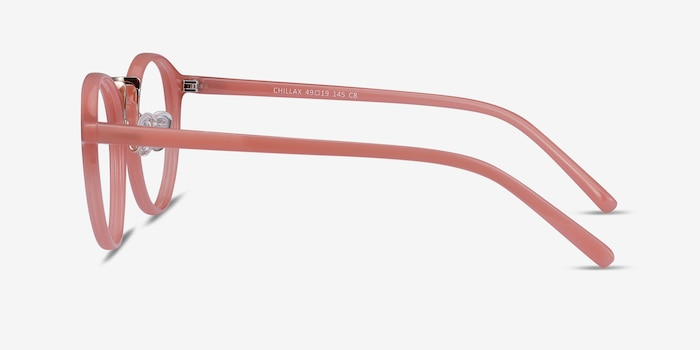 Chillax Coral Metal Eyeglass Frames from EyeBuyDirect, Side View