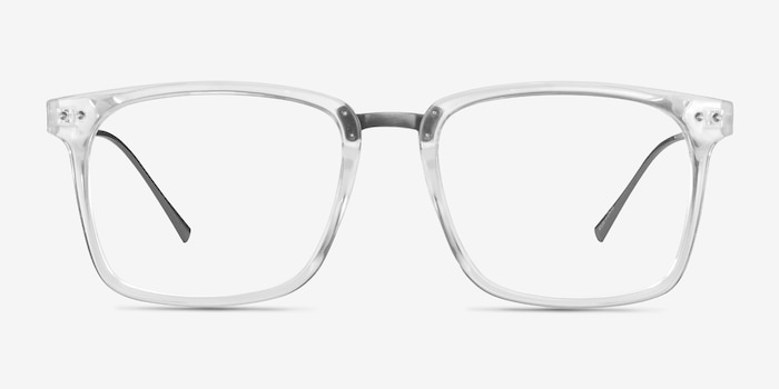 Forte Clear Plastic-metal Eyeglass Frames from EyeBuyDirect, Front View