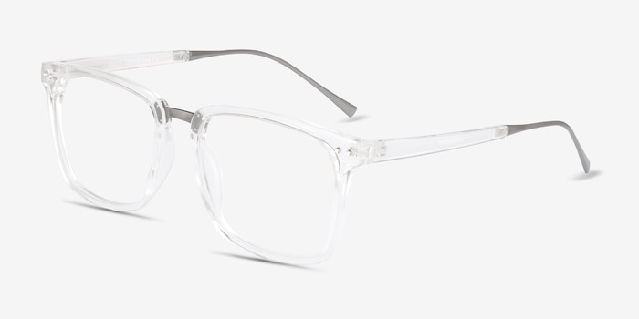 Forte Clear Plastic-metal Eyeglass Frames from EyeBuyDirect, Angle View