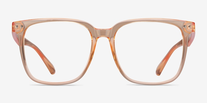 Piano Melon Plastic Eyeglass Frames from EyeBuyDirect, Front View
