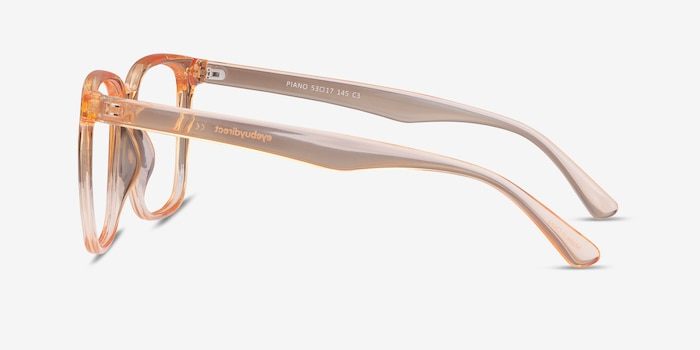 Piano Melon Plastic Eyeglass Frames from EyeBuyDirect, Side View