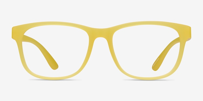 Milo Yellow Plastic Eyeglass Frames from EyeBuyDirect, Front View