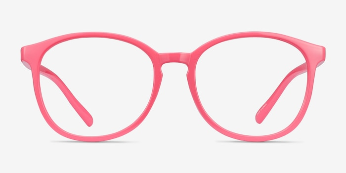 Dutchess Neon Pink Plastic Eyeglass Frames from EyeBuyDirect, Front View