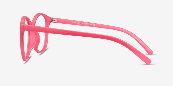 Dutchess Neon Pink Plastic Eyeglass Frames from EyeBuyDirect, Side View