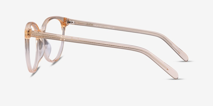 Nala Clear Melon Acetate Eyeglass Frames from EyeBuyDirect, Side View