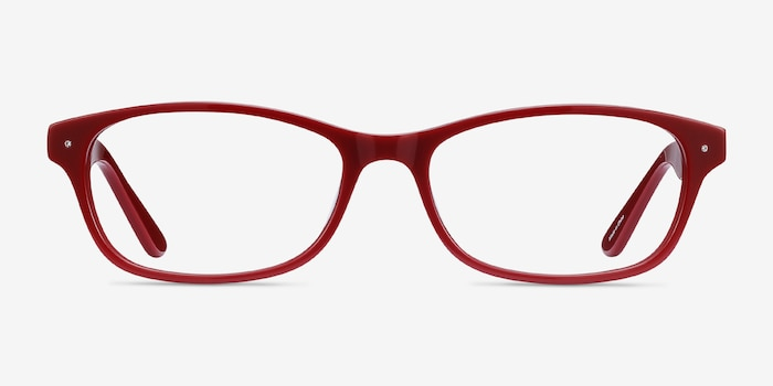 Kedah Burgundy Acetate Eyeglass Frames from EyeBuyDirect, Front View