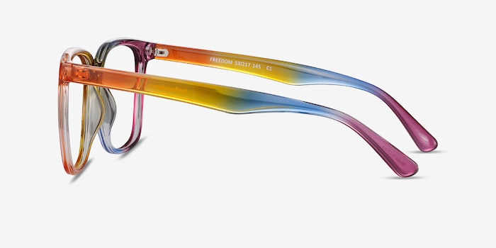 Freedom Rainbow Plastic Eyeglass Frames from EyeBuyDirect, Side View