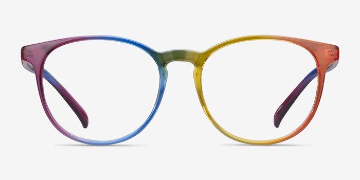 Rainbow Rainbow Plastique Montures de Lunettes d'EyeBuyDirect, Vue de Face