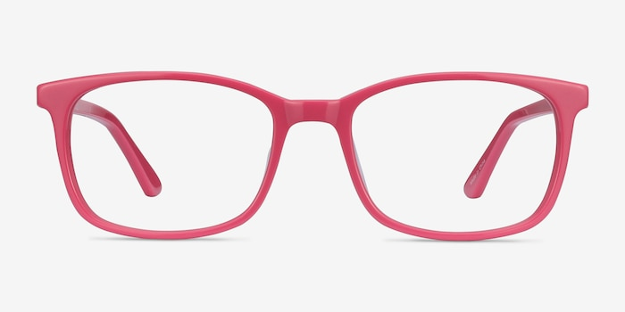 Equality Pink Acetate Eyeglass Frames from EyeBuyDirect, Front View