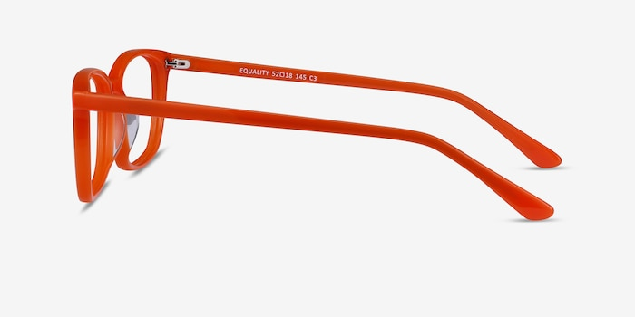 Equality Orange Acetate Eyeglass Frames from EyeBuyDirect, Side View