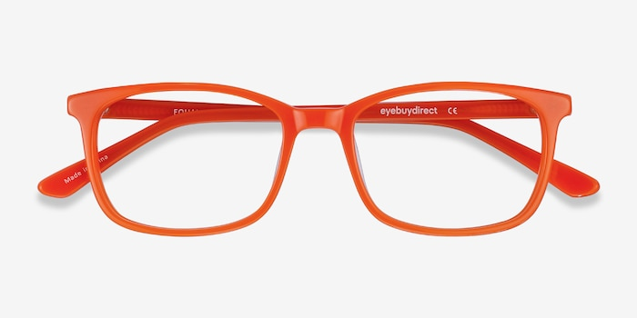 Equality Orange Acetate Eyeglass Frames from EyeBuyDirect, Closed View