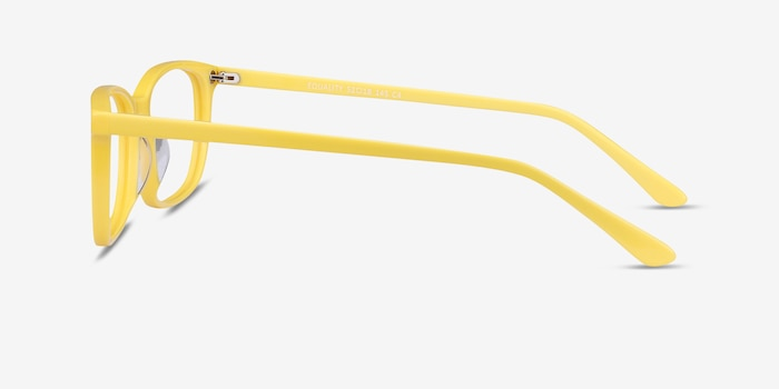 Equality Yellow Acetate Eyeglass Frames from EyeBuyDirect, Side View