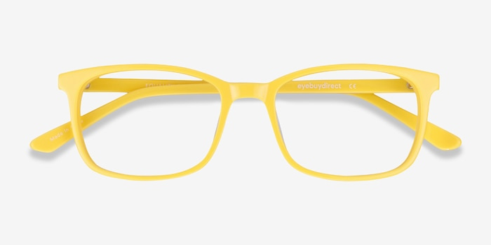 Equality Yellow Acetate Eyeglass Frames from EyeBuyDirect, Closed View