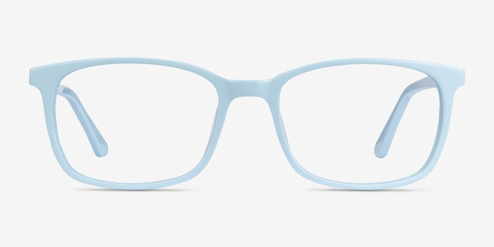 Equality Blue Acetate Eyeglass Frames from EyeBuyDirect, Front View
