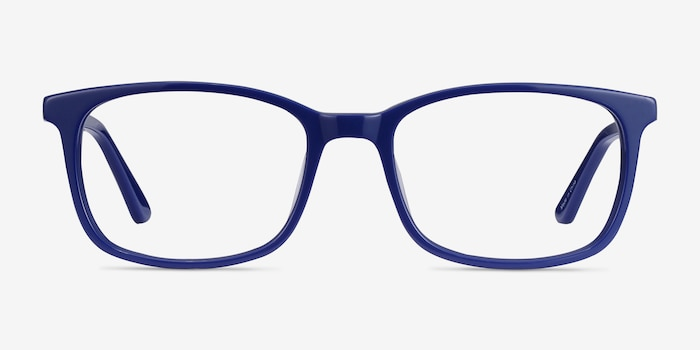 Equality Navy Acetate Eyeglass Frames from EyeBuyDirect, Front View