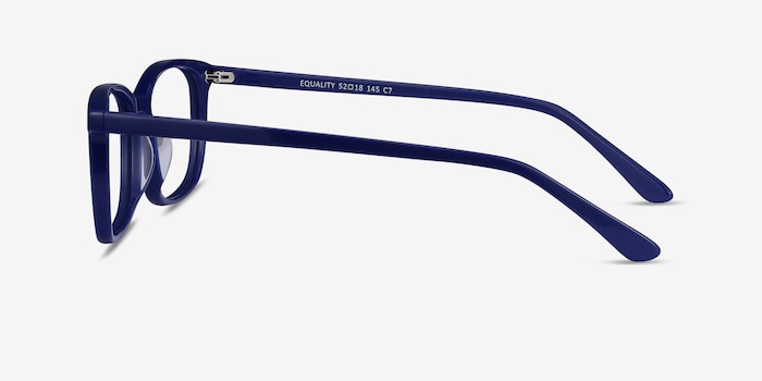 Equality Navy Acetate Eyeglass Frames from EyeBuyDirect, Side View