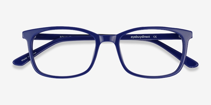 Equality Navy Acetate Eyeglass Frames from EyeBuyDirect, Closed View