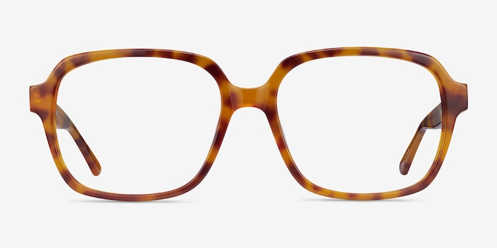 Tompkins Light Tortoise Acetate Eyeglass Frames from EyeBuyDirect, Front View