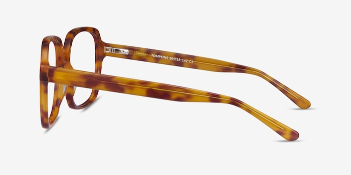 Tompkins Light Tortoise Acetate Eyeglass Frames from EyeBuyDirect, Side View