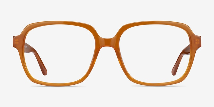 Tompkins Mellow Yellow Acetate Eyeglass Frames from EyeBuyDirect, Front View