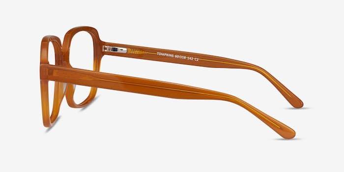 Tompkins Mellow Yellow Acetate Eyeglass Frames from EyeBuyDirect, Side View