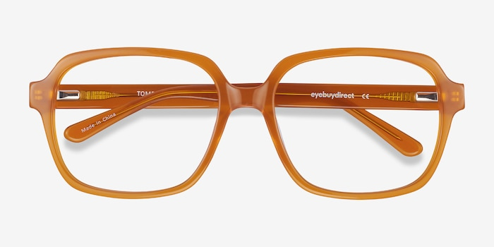 Tompkins Mellow Yellow Acetate Eyeglass Frames from EyeBuyDirect, Closed View