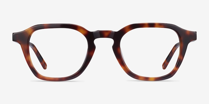 Victor Tortoise Acetate Eyeglass Frames from EyeBuyDirect, Front View