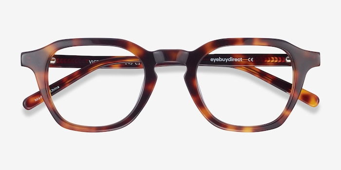 Victor Tortoise Acetate Eyeglass Frames from EyeBuyDirect, Closed View