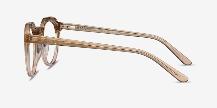 Mikoto Light Brown Acetate Eyeglass Frames from EyeBuyDirect, Side View