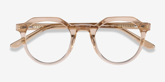 Mikoto Light Brown Acetate Eyeglass Frames from EyeBuyDirect, Closed View