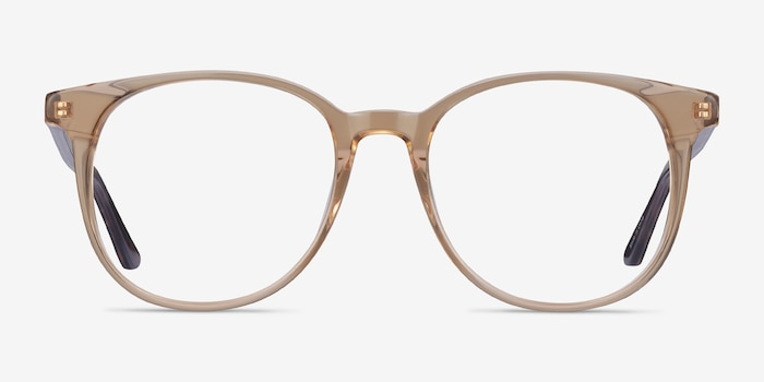 Solveig Clear Brown Acetate Eyeglass Frames from EyeBuyDirect, Front View