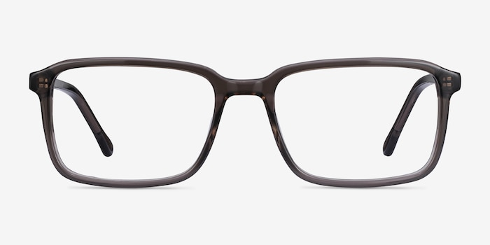 Rafferty Gray Acetate Eyeglass Frames from EyeBuyDirect, Front View