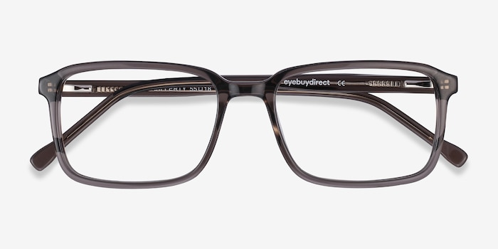 Rafferty Gris Acétate Montures de Lunettes d'EyeBuyDirect, Vue Rapprochée