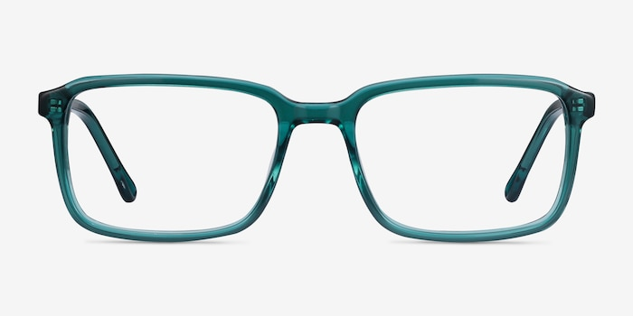 Rafferty Teal Acetate Eyeglass Frames from EyeBuyDirect, Front View