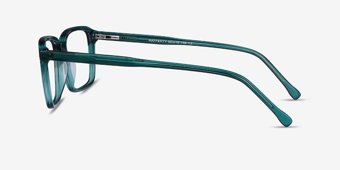 Rafferty Teal Acetate Eyeglass Frames from EyeBuyDirect, Side View