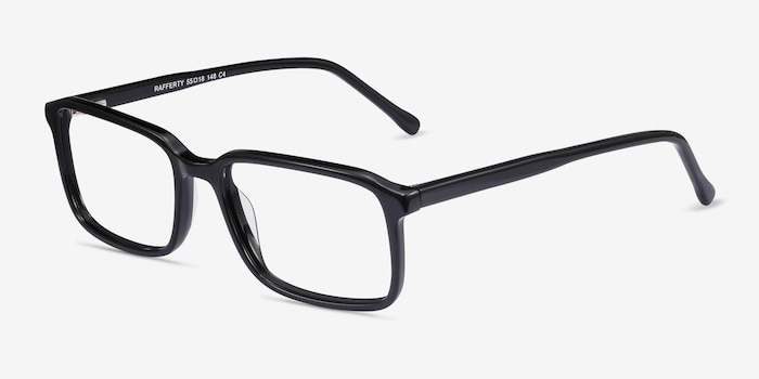 Rafferty Black Acetate Eyeglass Frames from EyeBuyDirect, Angle View