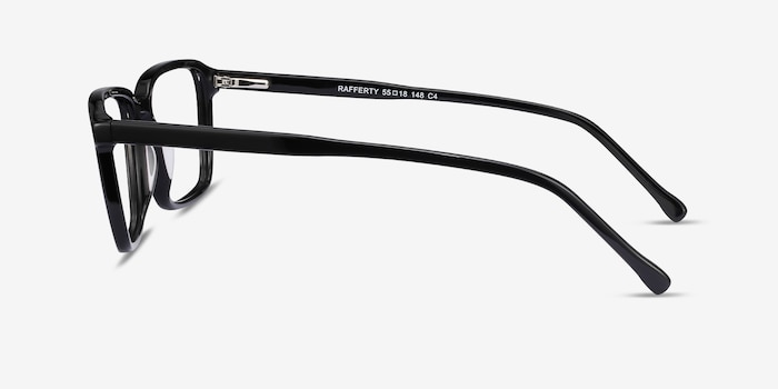 Rafferty Black Acetate Eyeglass Frames from EyeBuyDirect, Side View
