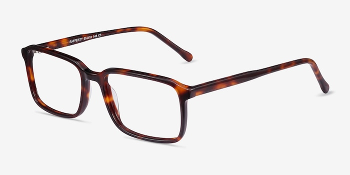 Rafferty Tortoise Acetate Eyeglass Frames from EyeBuyDirect, Angle View
